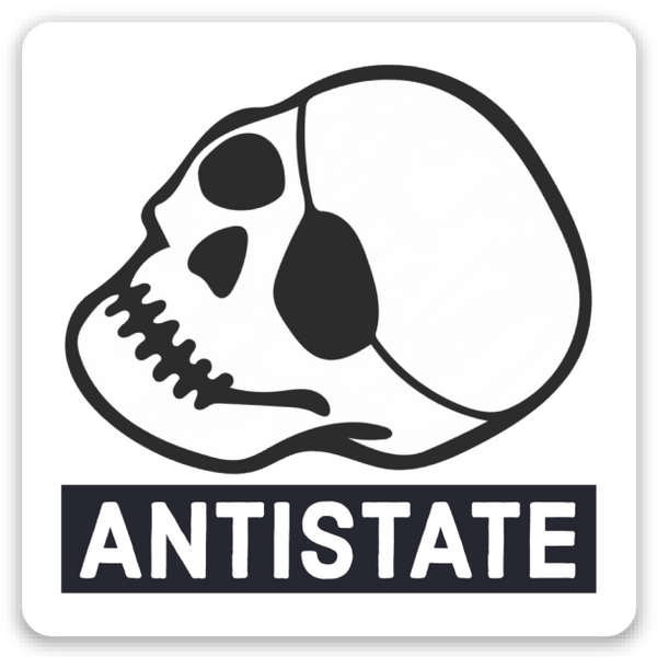 antistate patched-skull icon decal 2""