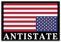antistate flag decal 3""