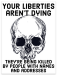 liberties aren't dying magnet 4""