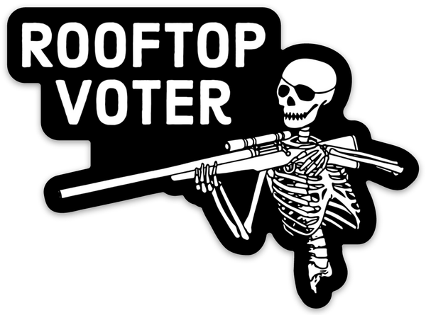 rooftop voter die-cut decal