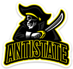 "ANTISTATE team 3"" decal"