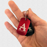 ANTISTATE icon dog tags