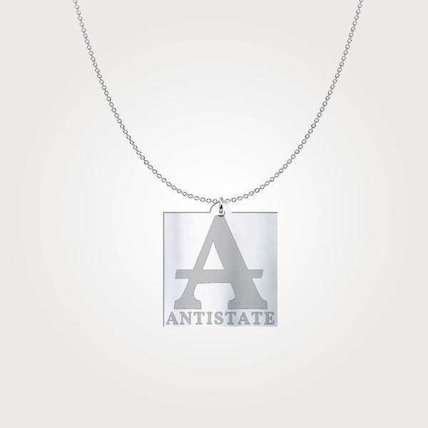ANTISTATE icon square sterling charm