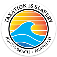 taxation is slavery circle decal 3""