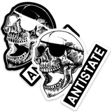 antistate brand patched-skull logo decal 3""