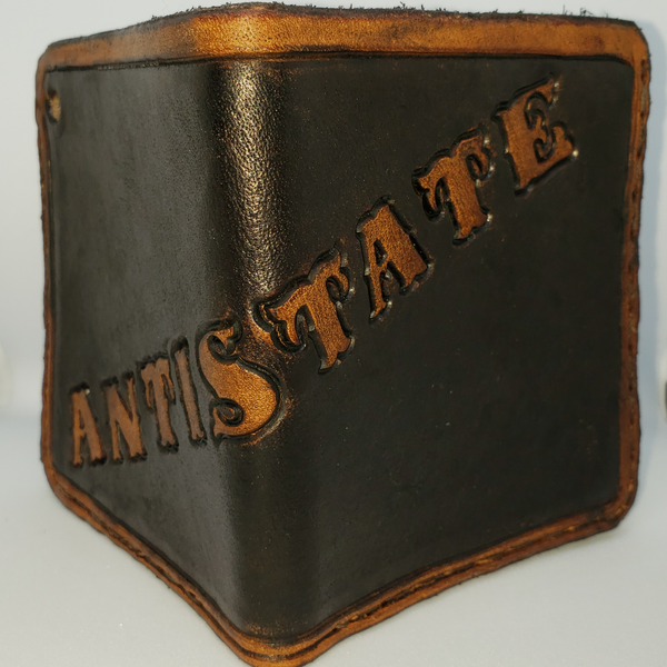 ANTISTATE modern leather wallet