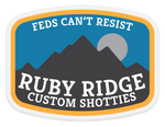 ruby ridge clear decal 4""