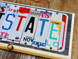 ANTISTATE license plate sign