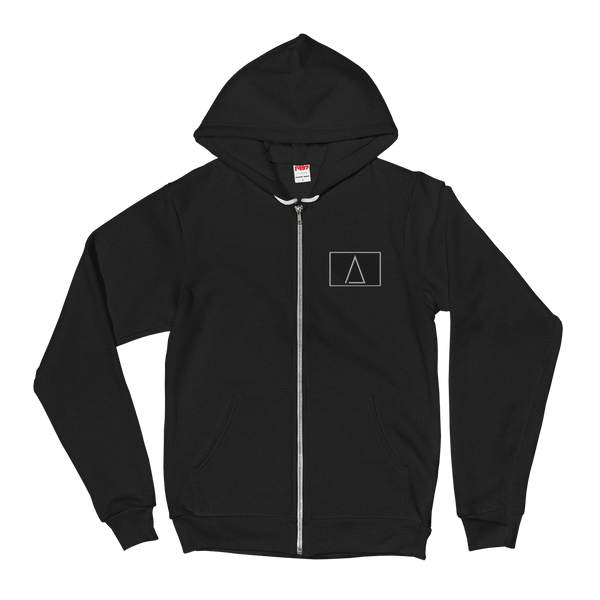 cornerstoneΔ patch embroidered zip hoodie