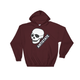 antistate patched-skull hoodie