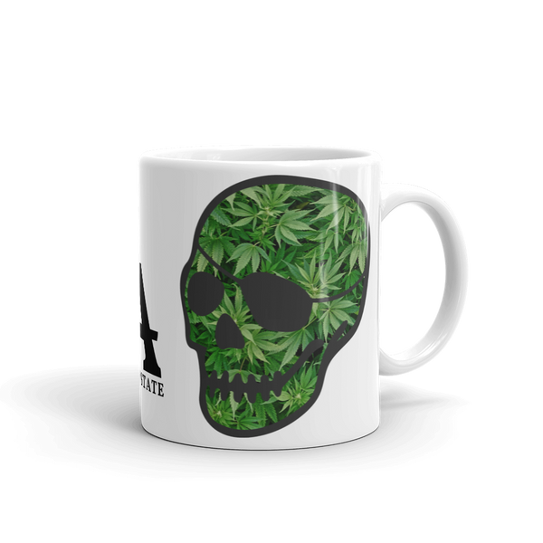 patched-skull leaves mug