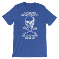 the gov't is not us dark t-shirt