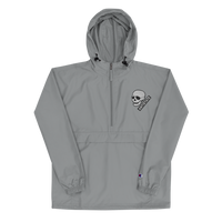 ANTISTATE patched-skull Champion jacket