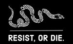 resist, or die 5'x3' flag