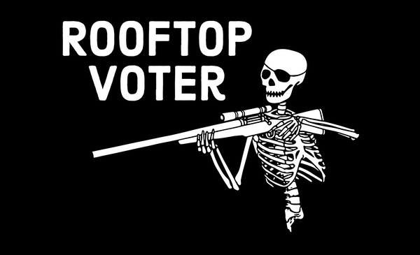 rooftop voter 5'x3' flag