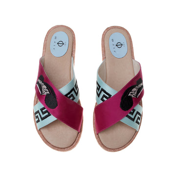 City Magenta Mint, Phi-male's Sandal Espadrille