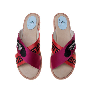 City Magenta Red, Phi-male's Sandal Espadrille