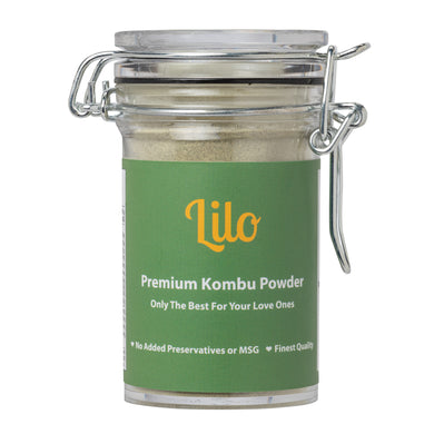 Lilo Premium Kombu Powder Bottle 50grams - Lilo Premium Ikan Bilis Powder