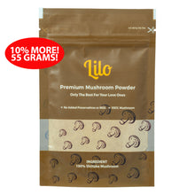 Load image into Gallery viewer, Lilo Premium Mushroom Powder Resealable Refill Pack 55grams - Lilo Premium Ikan Bilis Powder