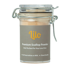 Load image into Gallery viewer, Lilo Premium Scallop Powder Bottle 50grams - Lilo Premium Ikan Bilis Powder