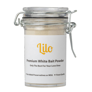Lilo Premium White Bait Powder Bottle 50grams - Lilo Premium Ikan Bilis Powder