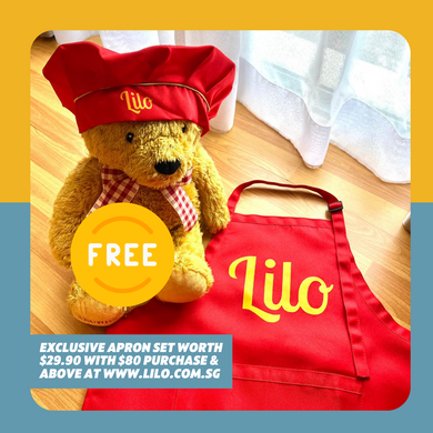 FREE #LiloBabyChef Apron (Usual Price: $29.90) with $80 purchase & above - Lilo Premium Ikan Bilis Powder
