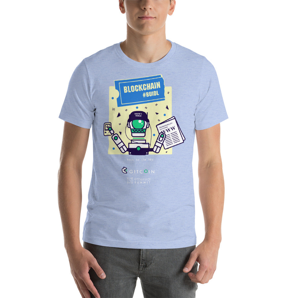 2019 Ethereal - Retro Gitcoin Short-Sleeve Unisex T-Shirt