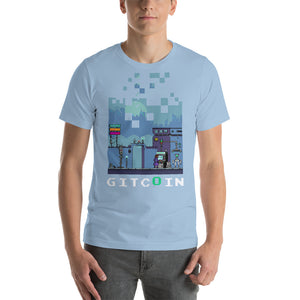 8Bit Gitcoin Video game Shirt, dark on white