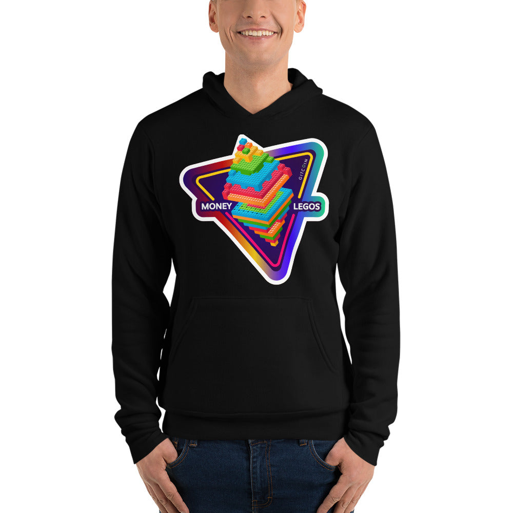 Unisex hoodie - Money Legos Triangle