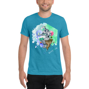 Watercolour Bot - Short sleeve t-shirt