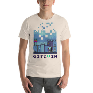 8bit t shirt, dark on light