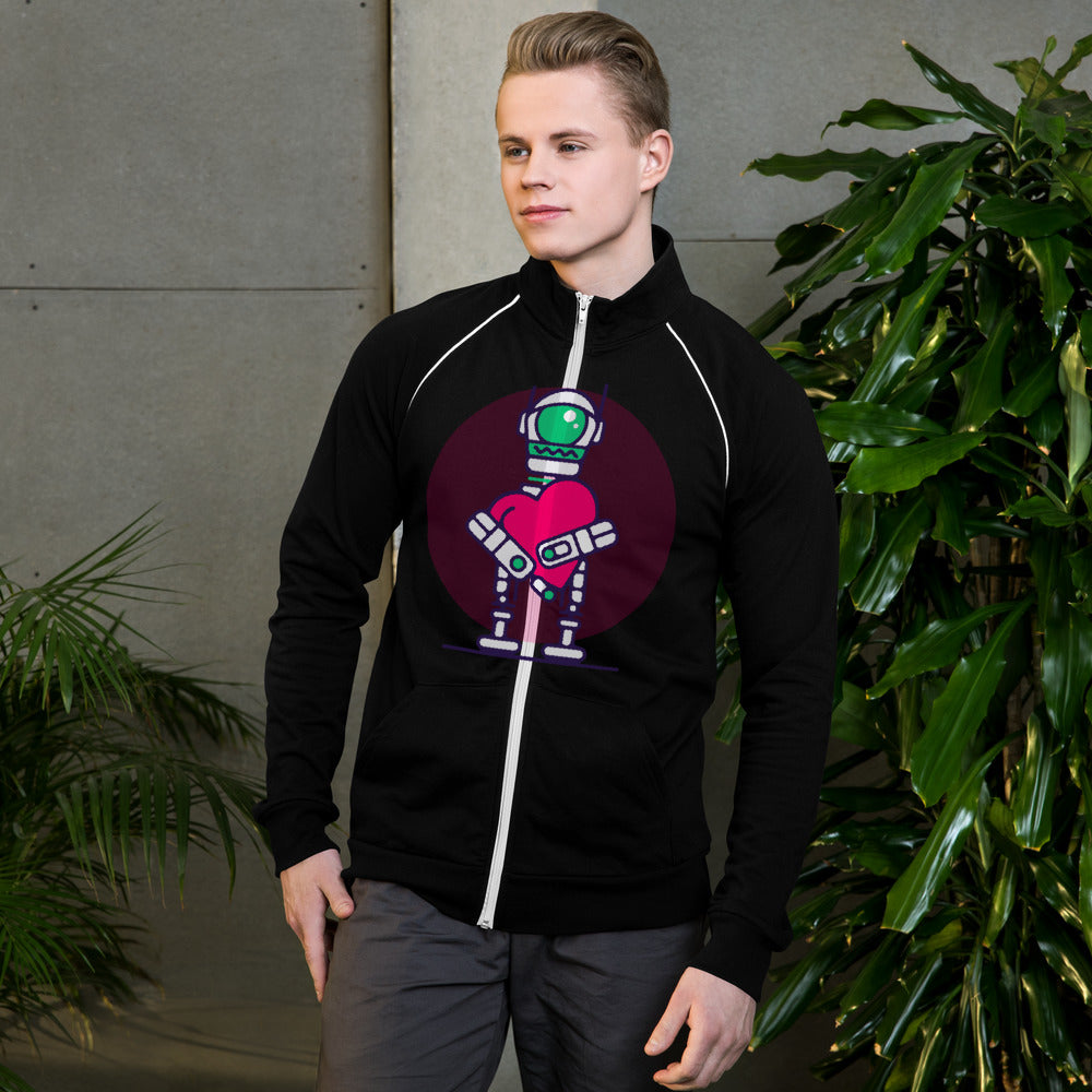 Mens Love - Bot Piped Fleece Jacket