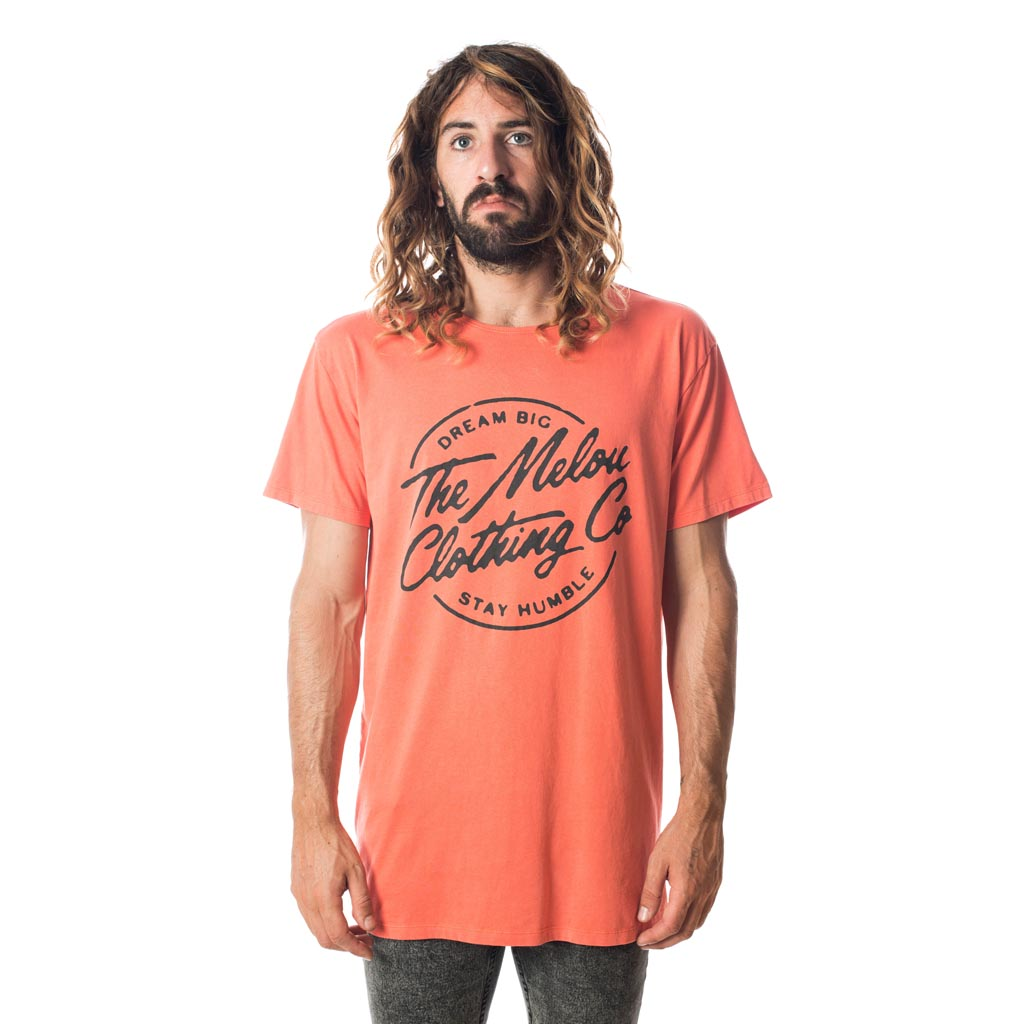 NEON TEE - WASHED RED