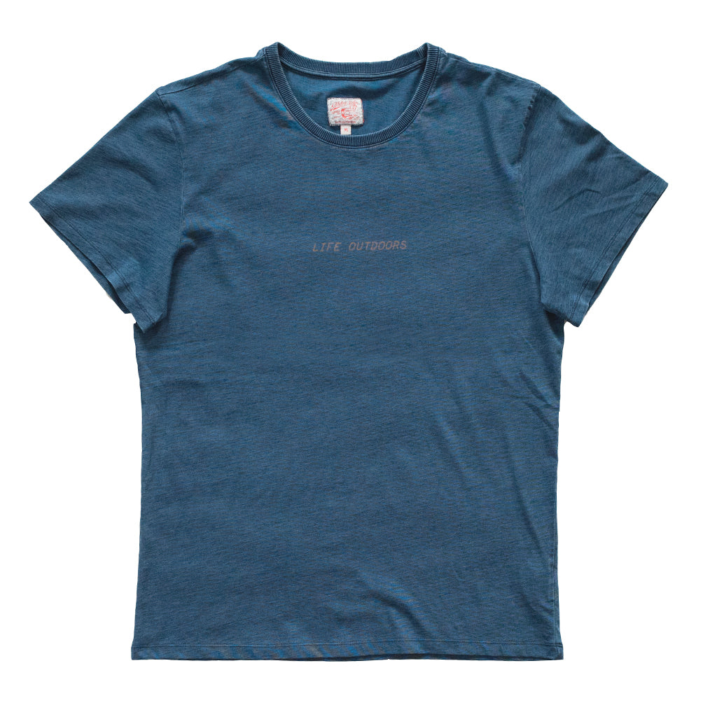OUTDOORS TEE - INDIGO