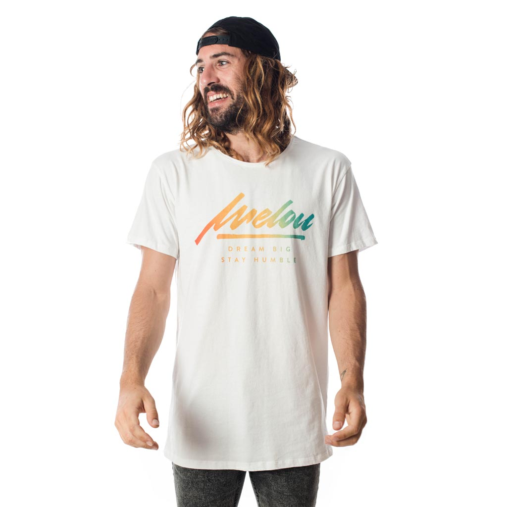 MELOU COLOR TEE - WHITE
