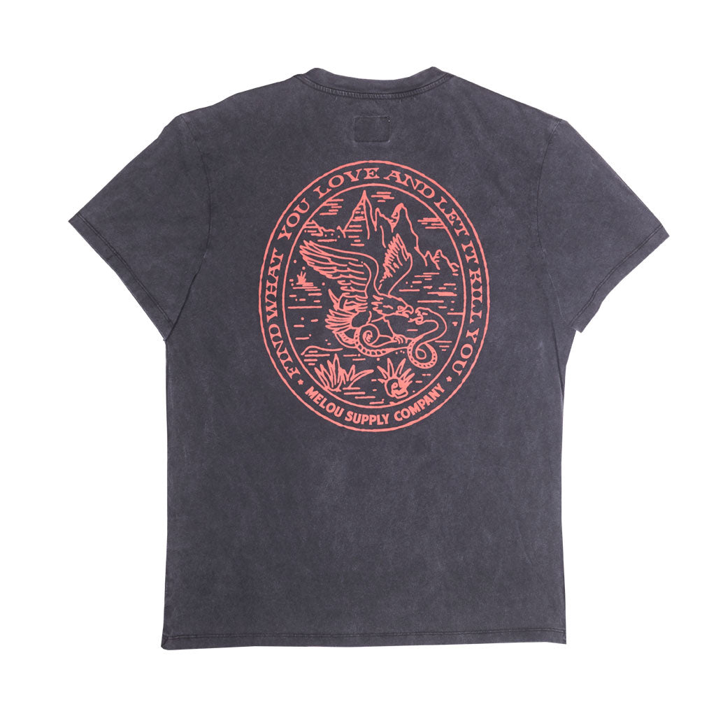 EAGLE TEE - WASHED BLACK