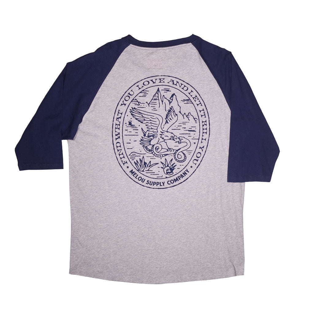 EAGLE 3/4 TEE - GRAY MELANGE