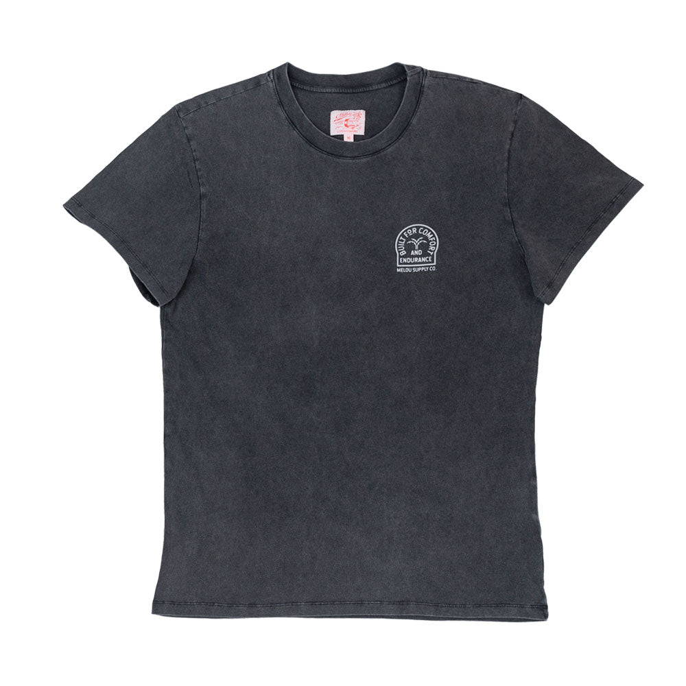 Pennon Tee - Washed Black