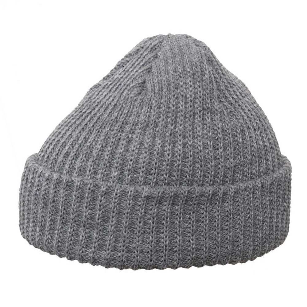 Yupoong - 1502 Fold Up Beanie - Heather Grey