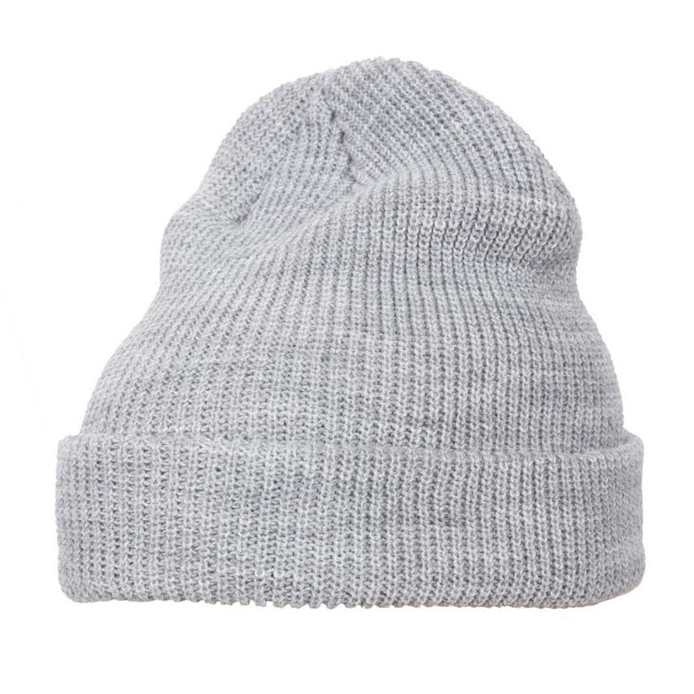 Yupoong - 1545 Fold Up Beanie - Heather Grey