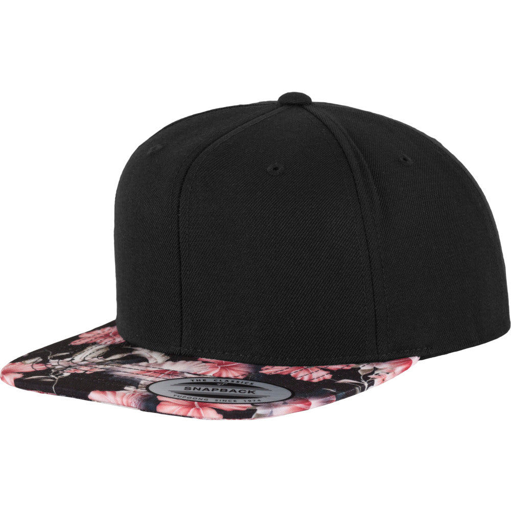 Yupoong - Floral Snapback - Red Floral