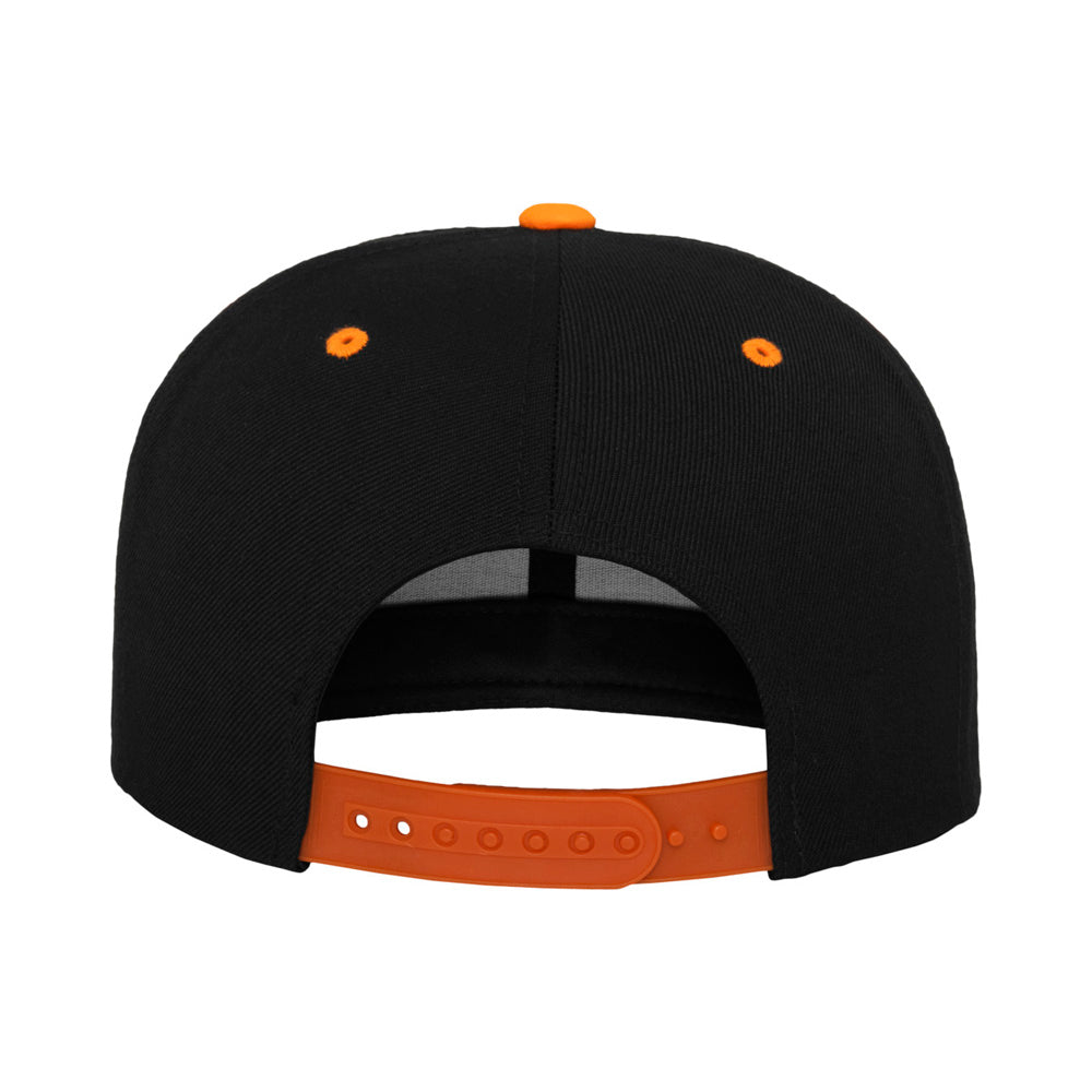 Yupoong - Snapback - Black/Neon Orange