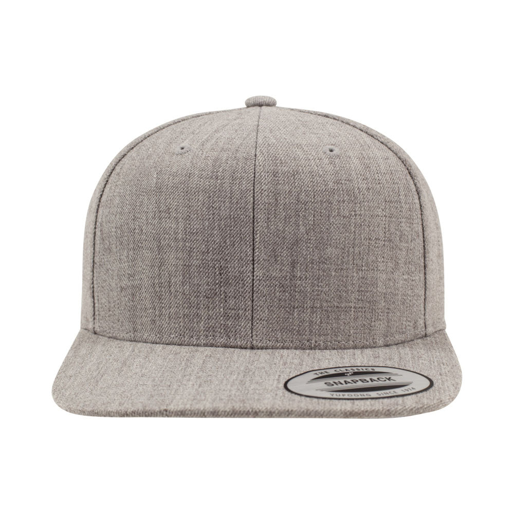 Yupoong - Kids 6-12 Snapback - Heather Grey