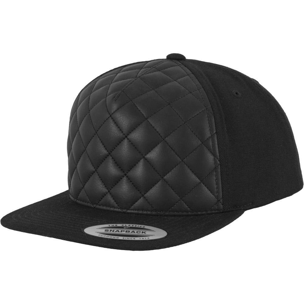 Yupoong - Quilt Snapback - Black