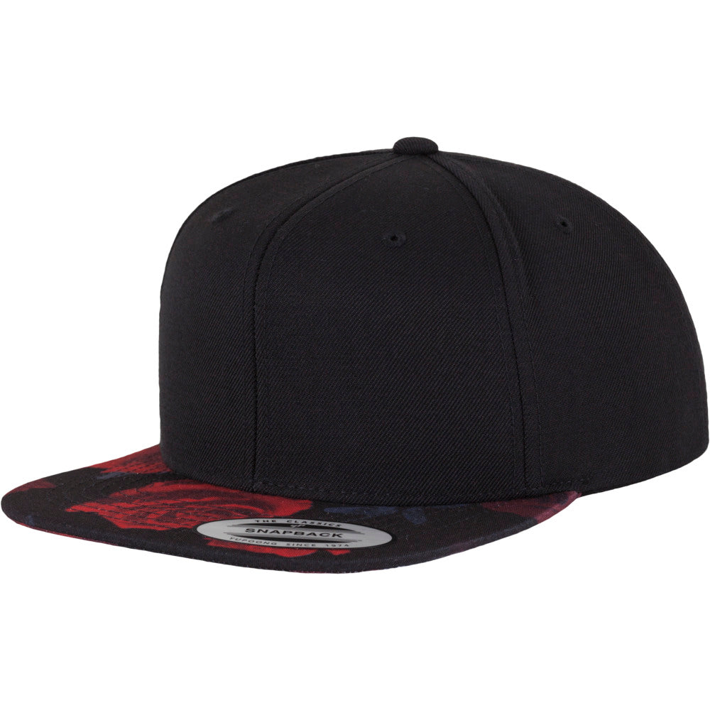 Yupoong - Rose Snapback - Black/Red