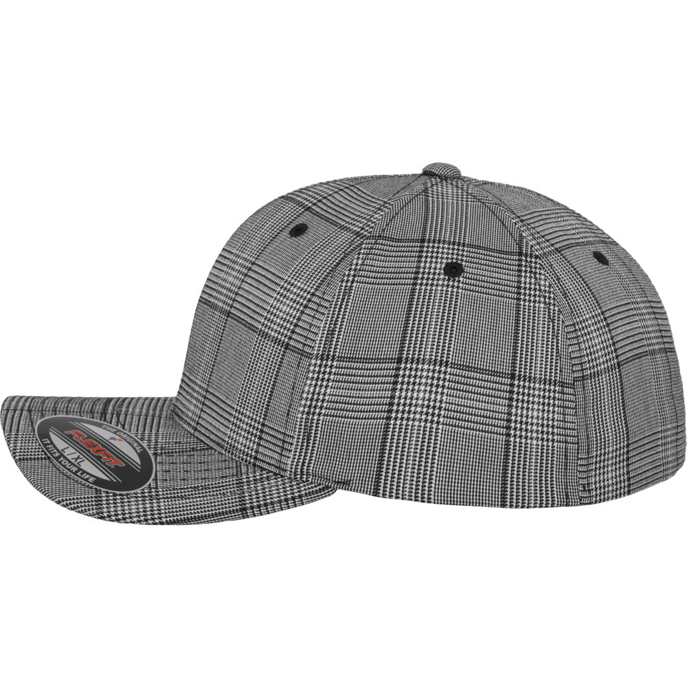 Flexfit - Baseball Cap - Black/White Glen Check