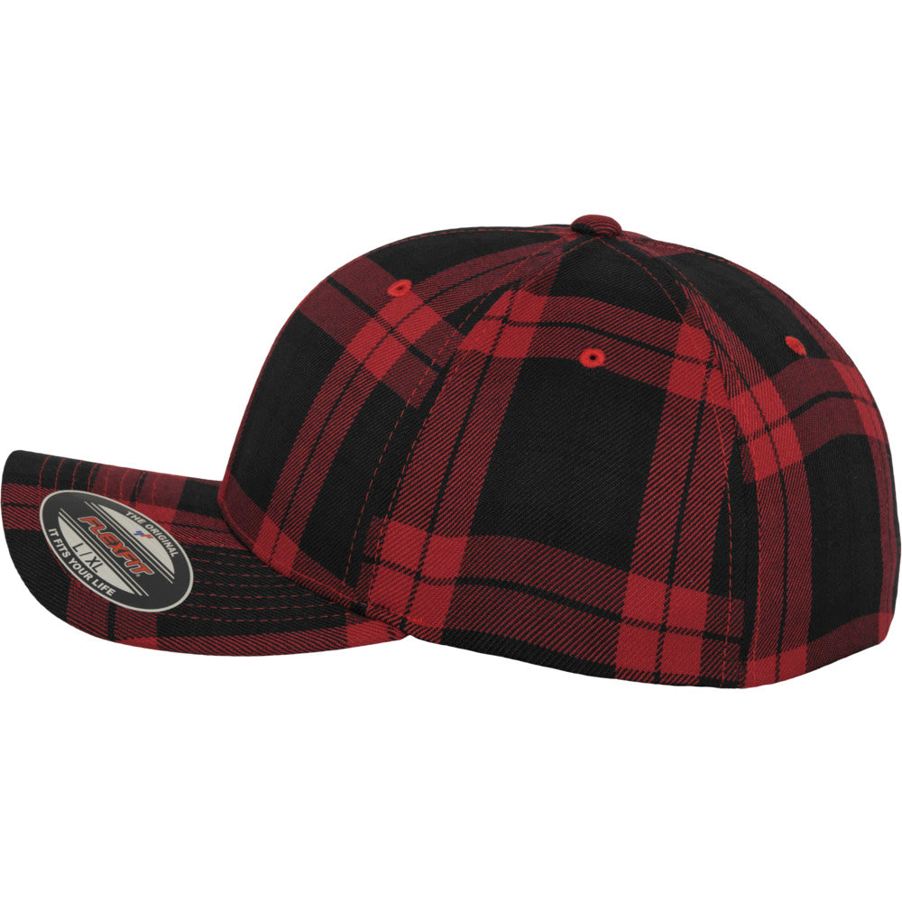 Flexfit - Baseball Cap - Black/Red Check
