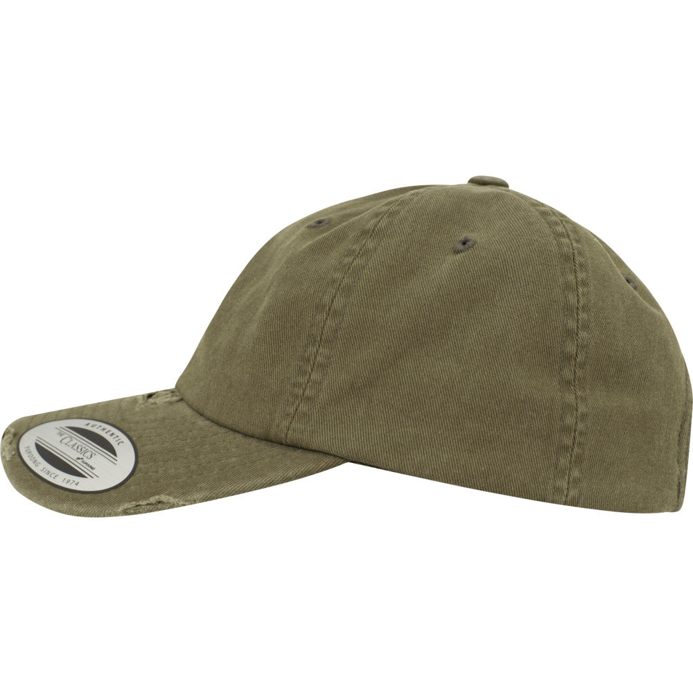 Yupoong - Destroyed Dad Cap - Olive