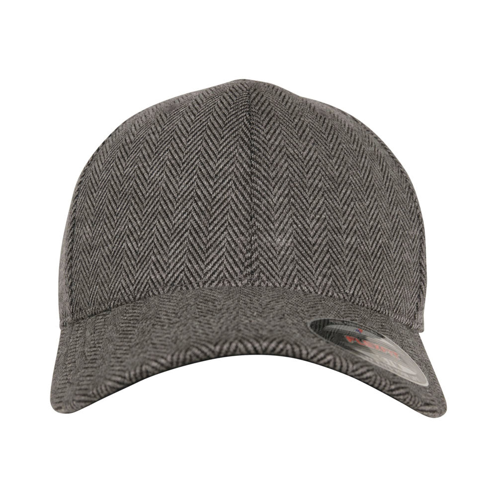 Flexfit - Herringbone Baseball Cap - Black/Grey