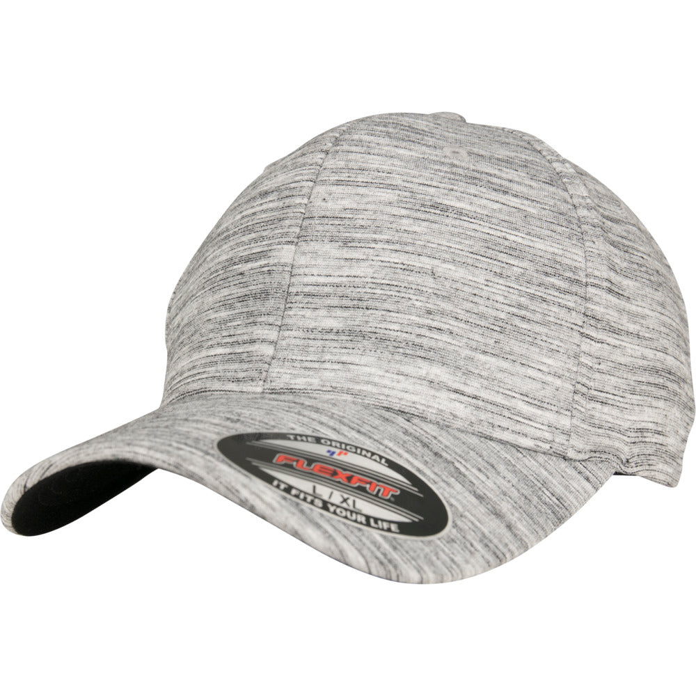 Flexfit - Baseball Cap - Black/H. Grey Melange